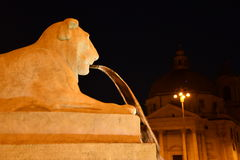 Rome, Italy, night view baroque water fountain at Piazza Navona Stock Photo