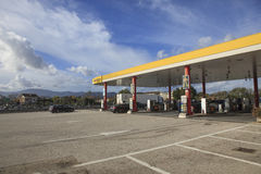 ROME ITALY - NOVEMBER 7 : Agip gas station in route from napoli Stock Photography
