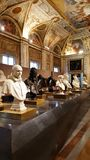 Marble busts in the Borghese Gallery in Rome, Italy. royalty free stock photo