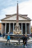The Pantheon, a former Roman temple in Rome, Italy royalty free stock photography