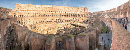 ROME, ITALY - NOVEMBER 24, 2012 rome colosseum is crowded of tourist on sunny day Royalty Free Stock Photos