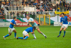 ROME, ITALY - NOVEMBER 18 2006. Rugby test match Italy-Argentina Stock Photos