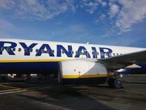 Ryanair airplane stock photos