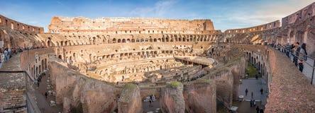 ROME, ITALY - NOVEMBER 24 2012 visitors inside Coliseum colosseum Stock Images
