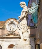 ROME, ITALY; OCTOBER 11, 2017: Archangel St Michael Statue at Ca. ROME, ITALY; OCTOBER 11, 2017: Archangel St Michael Statue in the courtyard at Castel Saint` Royalty Free Stock Image