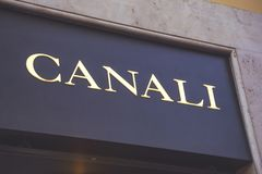 Canali sign for store royalty free stock images