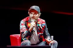 Jovanotti, Lorenzo Cherubini, interview. Rome, Italy - October 16, 2016. Italian singer Jovanotti Lorenzo Cherubini is interviewed during the meeting with the Stock Photography