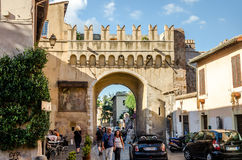 Rome, Italy - October 2015: Old streets of ancient Rome, Italy, arch on the road Stock Images