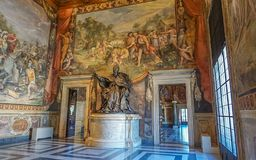 ROME, ITALY- OCTOBER 10, 2017: A Statue in a Room in The Conser stock photo