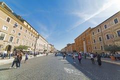 Tourists in Via della Conciliazione Royalty Free Stock Image