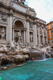 Rome, Italy. One of the most famous landmarks - Trevi Fountain Stock Image