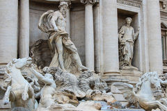 Rome, Italy. One of the most famous landmarks - Trevi Fountain Royalty Free Stock Image