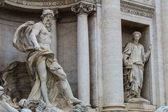 Rome, Italy. One of the most famous landmarks - Trevi Fountain Royalty Free Stock Photos
