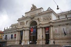 The exterior The Palazzo delle Esposizioni Rome Royalty Free Stock Image