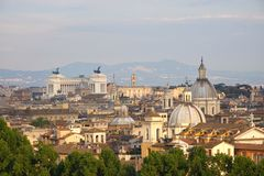 Rome, Italy. Panorama view of the city of Rome, Italy Royalty Free Stock Image