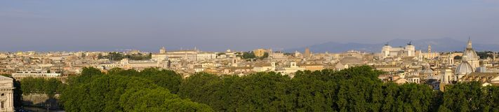 Rome, Italy - Panoramic view of Rome city center along the Tiber Royalty Free Stock Images