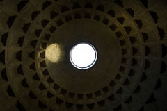 Rome Italy Pantheon Ceiling Landmark Architecture Top Pattern Royalty Free Stock Image