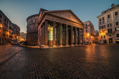 Rome, Italy: The Pantheon in the sunrise Royalty Free Stock Photography