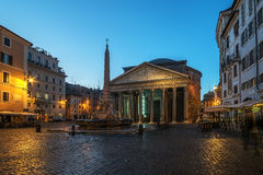 Rome, Italy: The Pantheon in the sunrise Royalty Free Stock Image