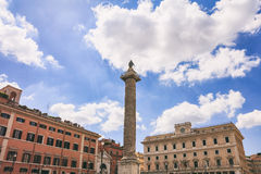 Rome, Italy - Piazza Colonna Royalty Free Stock Photo