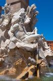 Rome. Italy. The Piazza Navona.The Neptune fountain Royalty Free Stock Photo