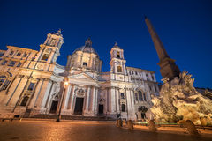 Rome, Italy: Piazza Navona, Sant'Agnese in Agone Church Navona Royalty Free Stock Image