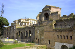 Rome italy piazza san giovanni ruins  antiquity Royalty Free Stock Photo
