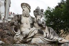 Rome, Italy - Pincio fountain at famous Piazza del Popolo square Stock Photos