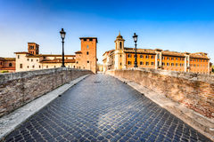 Rome, Italy - Ponte Fabricio royalty free stock photography