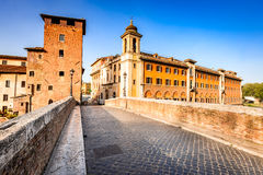 Rome, Italy - Ponte Fabricio Stock Photos