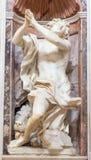 ROME, ITALY: Prophet Daniel marble statue in The Chigi chapel in church Basilica di Santa Maria del Popolo. Stock Image