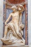 ROME, ITALY: The prophet Jonah marble statue in The Chigi chapel in Basilica di Santa Maria del Popolo. Royalty Free Stock Images