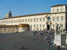 Rome italy the quirinal palace Royalty Free Stock Photography