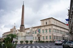 A view of the exterior of the The Quirinal Palace in Rome. Rome Italy The Quirinal Palace known in Italian as the Palazzo del Quirinale or simply Quirinale is a Royalty Free Stock Image