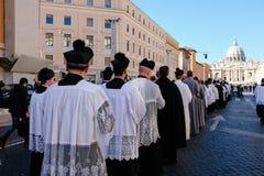 ROME-ITALY-24 10 2015, religiöse Prozession durch die Straßen Stockfoto