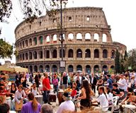 ROME ITALY roman Coliseum. Rome is the capital of the Italian Republic and the capital of the metropolitan city and the region Lazio Royalty Free Stock Photo