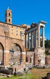 Rome.Italy. The Roman forum Stock Photos