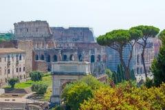 Rome.Italy. The Roman forum. The Colosseum Stock Photos