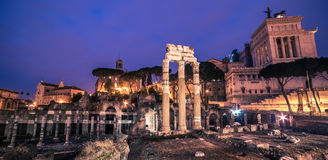 Rome, Italy: The Roman Forum and Old Town Stock Images