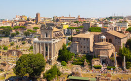 Rome. Italy. The Roman forum. The Roman forum. Ruins of ancient Rome Royalty Free Stock Images