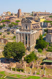 Rome. Italy. The Roman forum. The Roman forum. Ruins of ancient Rome Stock Photography