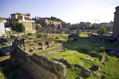 Rome Italy roman forum ruins   antiquity. Empire archaeology   ancient marble Stock Photo