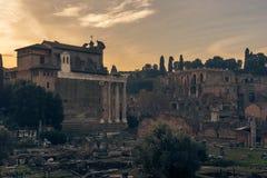 Rome, Italy: The Roman Forum Stock Image