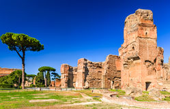 Rome, Italy - Ruins of Baths of Caracalla Stock Photography