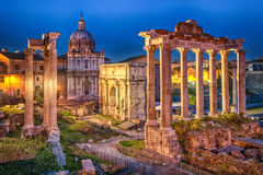 Rome, Italy. Ruins of Roman forum on Capitoline hill, Rome, Italy royalty free stock image