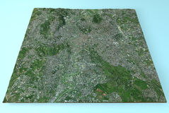 Rome, Italy, satellite map view Royalty Free Stock Image