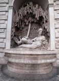 Rome, Italy: sculpture in ensemble of Quattro Fontane, Four Fountains Royalty Free Stock Images