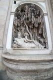 Rome, Italy: sculpture in ensemble of Quattro Fontane, Four Fountains Royalty Free Stock Photo