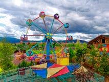 Ferris wheel funfair. Rome, Italy - Sept 2017: Ferris wheel at Rainbow Magicland funfair Stock Images