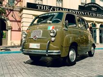 Vintage or Retro car or vehicle of Carabinieri Italian police stock photography